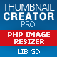 Thumbnail creator and image resizer php script (based on GD Library)